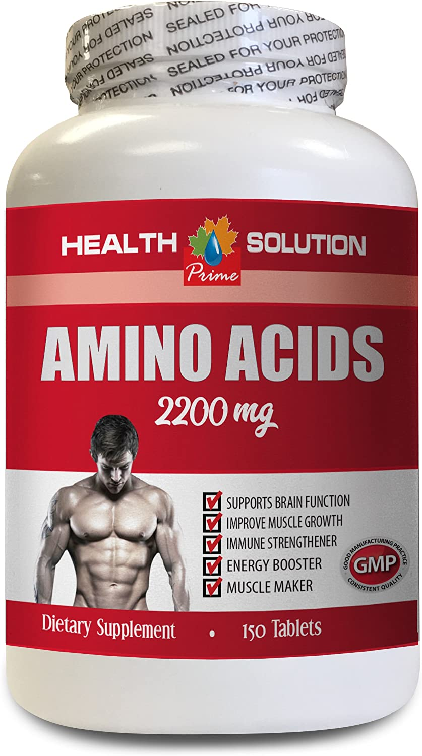 pre Workout Testosterone Booster - Amino ACIDS 2200 Mg - Muscle Maker - Amino acids Pills for Men - 1 Bottle 150 Tablets