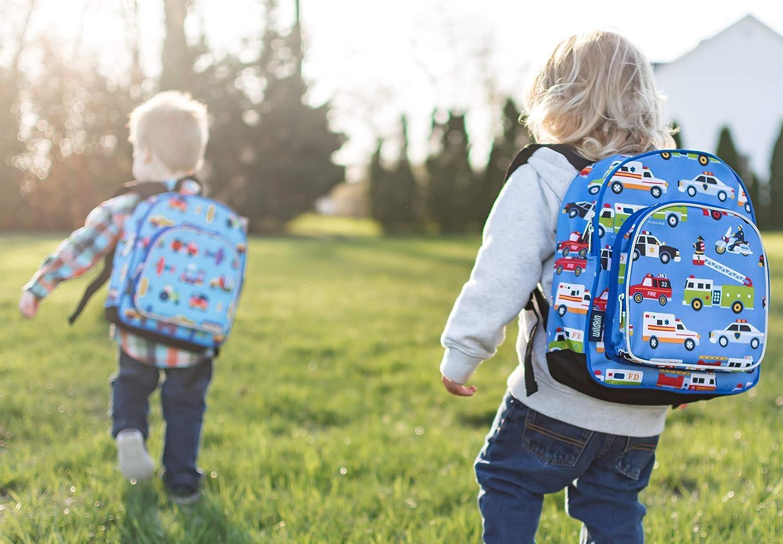 Multicolore Wildkin Sac /à Dos pour Enfant Motif v/éhicules dintervention