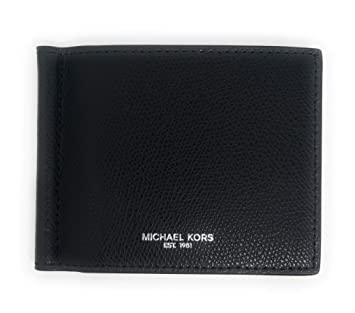 828cc32286d2 Amazon.com: Michael Kors Men's Warren Leather Billfold Bifold Money Clip  Wallet Black: Genie Outlet