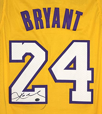 350bf8555da3 Kobe Bryant Los Angeles Lakers Signed Autographed Yellow  24 Jersey PAAS  LOA COA