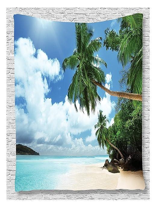 wshine tapiz colgar en la pared, selva, playa manta ropa de ...