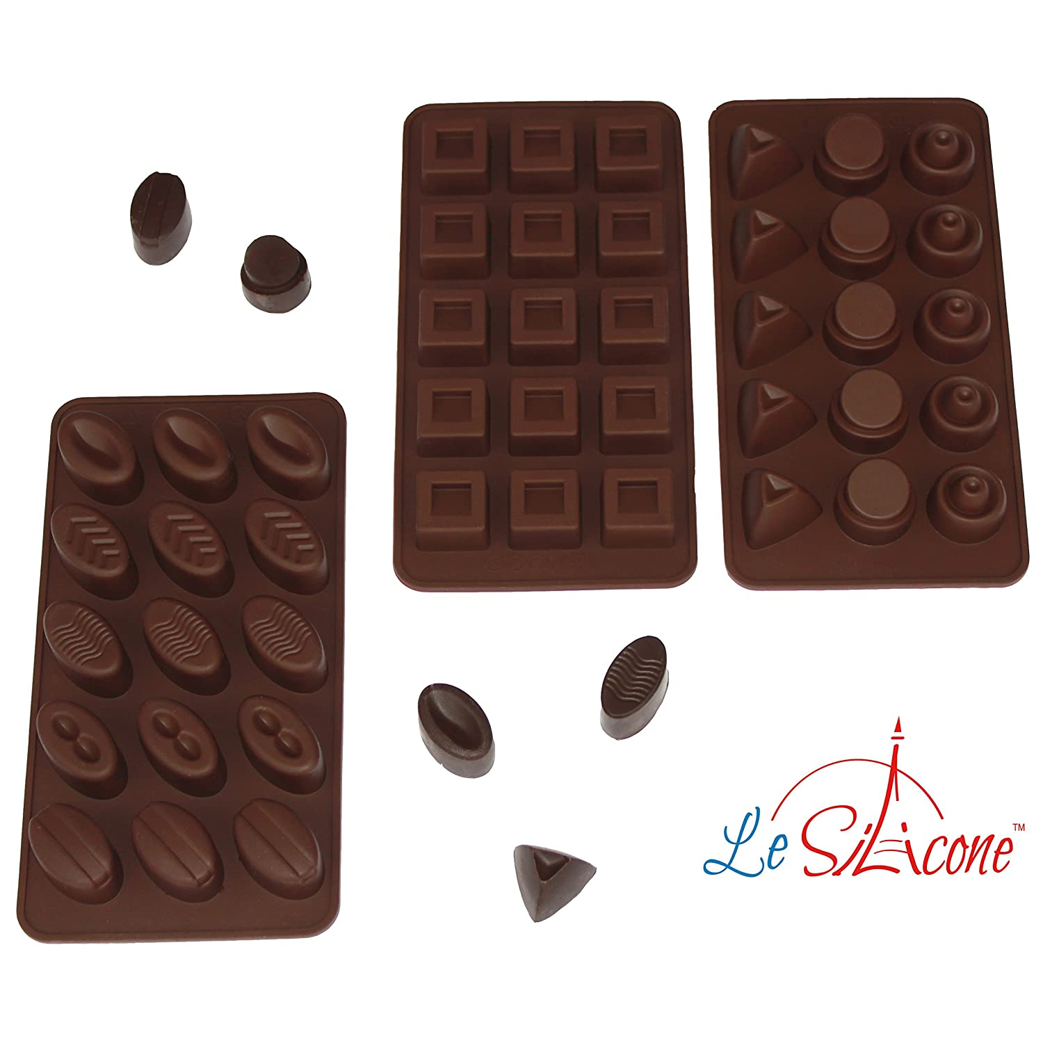 Amazon.com: Le Silicone, Set of 3 Silicone Chocolate and Candy ...