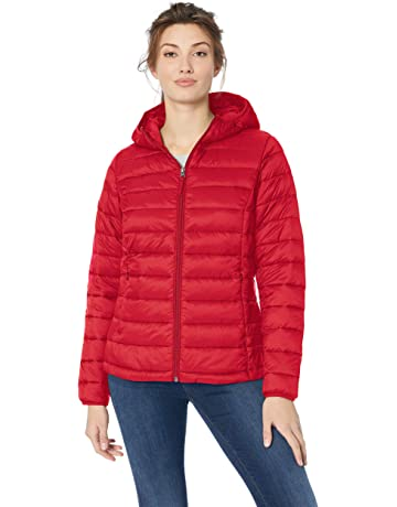 5ad63bc71a704 Amazon Essentials Women's Lightweight Water-Resistant Packable Hooded  Puffer Jacket
