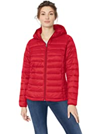 8be591020dbf2 Amazon Essentials Women s Lightweight Water-Resistant Packable Hooded  Puffer Jacket