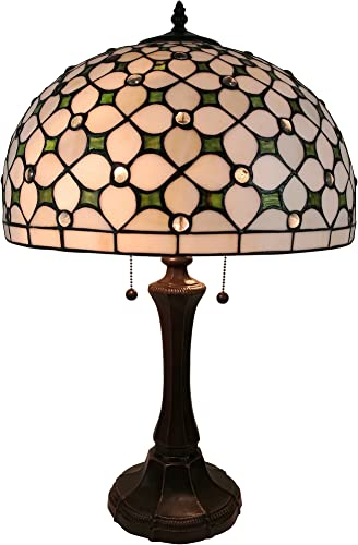 Amora Lighting AM292TL16 Tiffany Style Jeweled Table Lamp