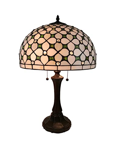 Amora Lighting AM292TL16 Tiffany Style Jeweled Table Lamp, Multicolor