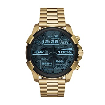 11e957ae96 Diesel On Full Guard Touchscreen Gold-Tone Stainless Steel Smartwatch  DZT2005