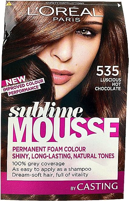 L Oreal Sublime Mousse espuma permanente pelo color número 535, Luscious Chocolate caliente