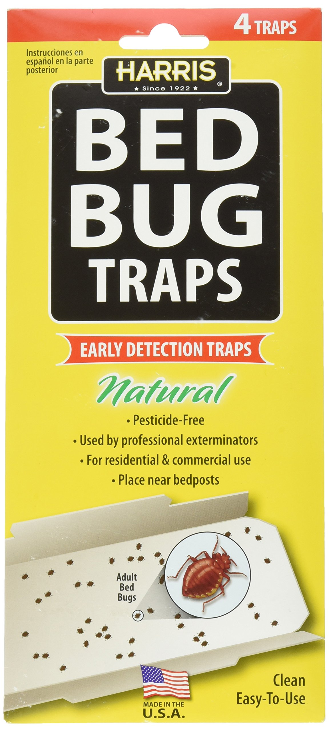 P F HARRIS Irresistible Lure Bed Bug Traps, 4 traps