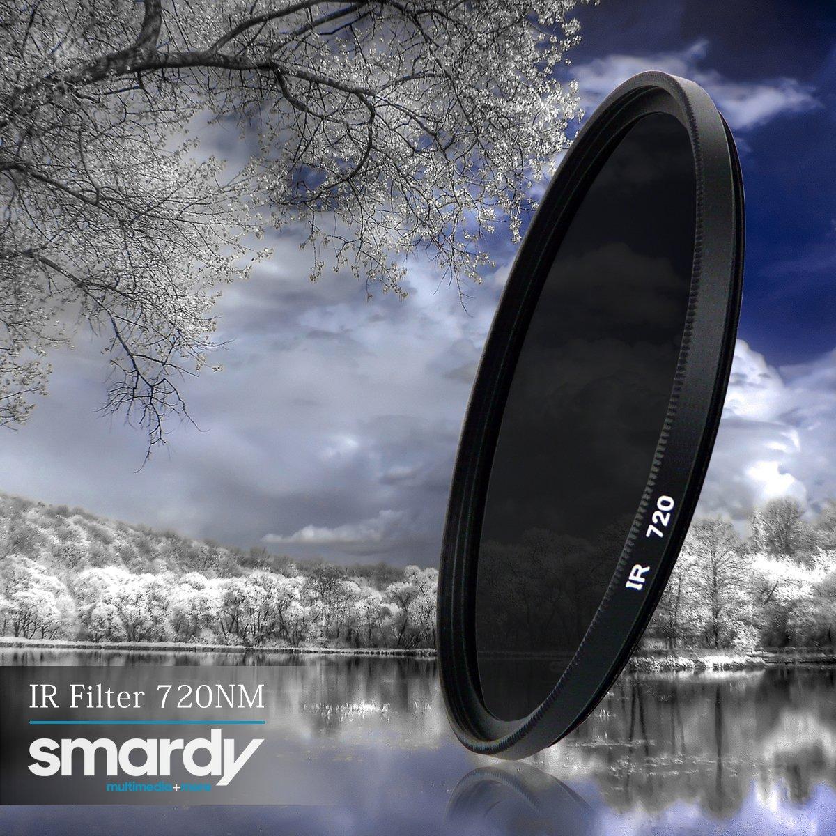 Sony Alpha SLT-65V smardy 55mm Filtro infrarrojo 720nm IR para Canon EOS 1100D Alpha SLT-77V DSLR C/ámara Digital Lente