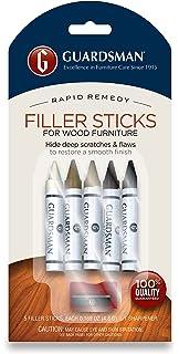 Guardsman Wood Repair Filler Sticks   5 Colors Plus Sharpener   Repair And  Restore Scratched Furniture