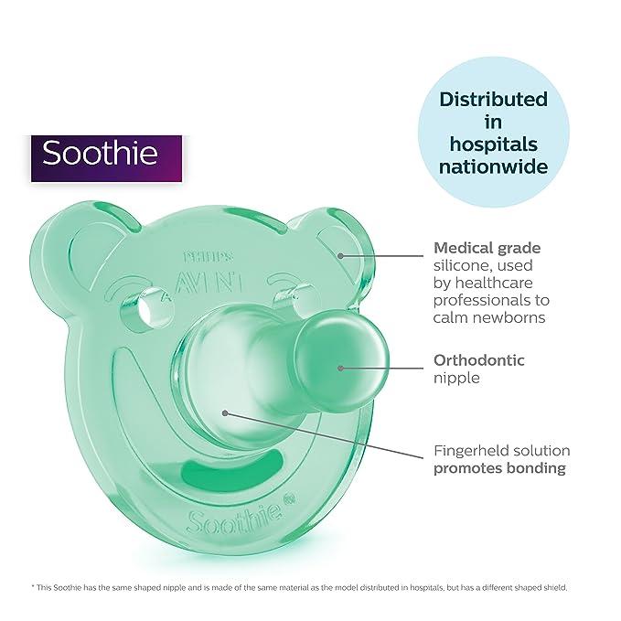Avent – soothie – Chupete de América – A partir de 3 meses (3 m +) – 2 Pack – Verde