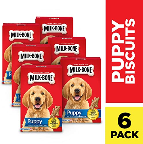 Milk-Bone Original Dog Treats Biscuits for Puppies, 16 Ounces Pack of 6