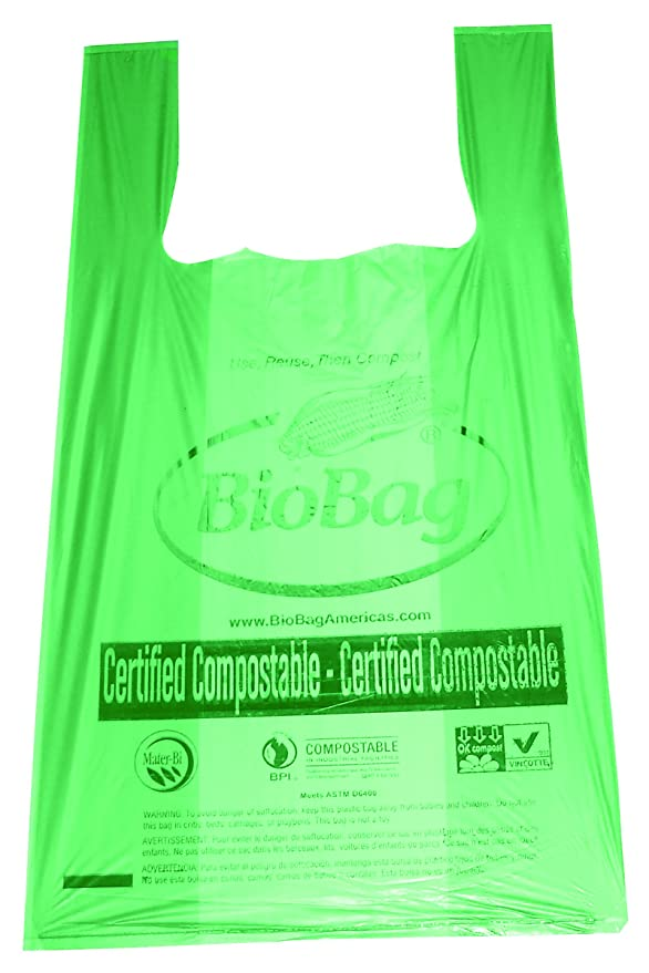 BioBag RegSHOP Certified Compostable Shopping Bags, Shopper