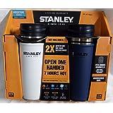 STANLEY スタンレー ワンハンド 真空マグ 473mL ホワイトとネイビーの2本セット [並行輸入品]