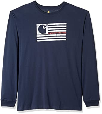 669097f0b Amazon.com: Carhartt Men's Big & Tall Lubbock Logo Flag Graphic Long Sleeve  T Shirt: Clothing
