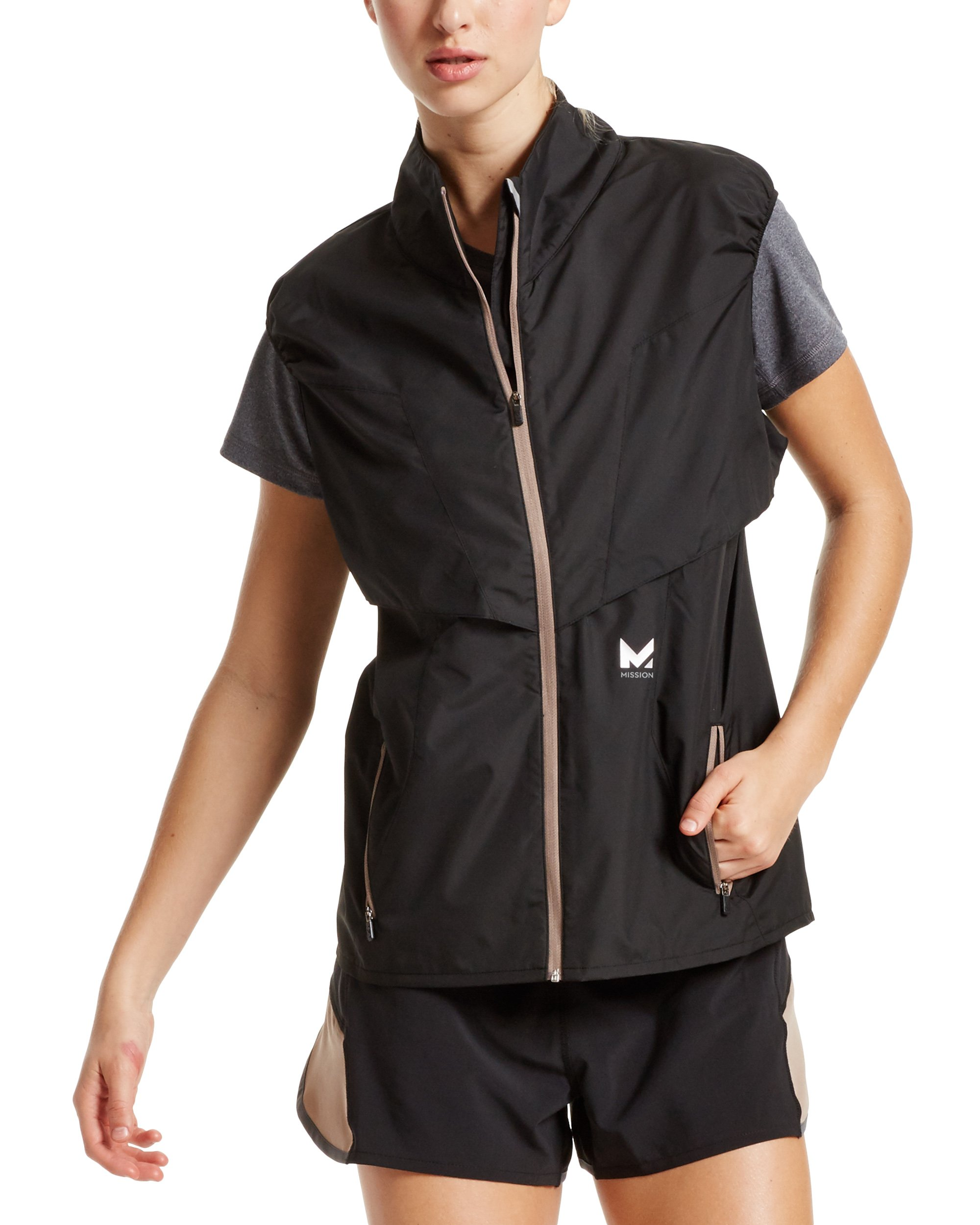 Mission Women's VaporActive Dynamo Running Vest, Moonless Night, Medium