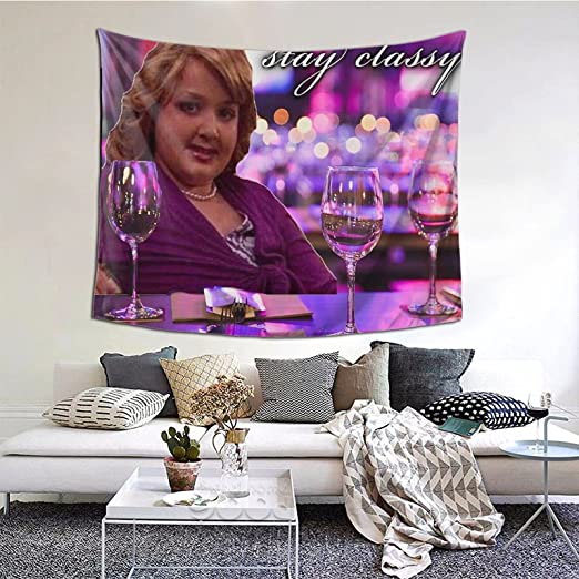 Yund Girl Gibby At The Bar Stay Classy 3d Boutique Decorative Wall Tapestry Pop Art Retro Micro Microfiber Home Decoration