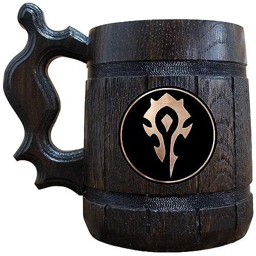 Horde Wooden Beer Mug