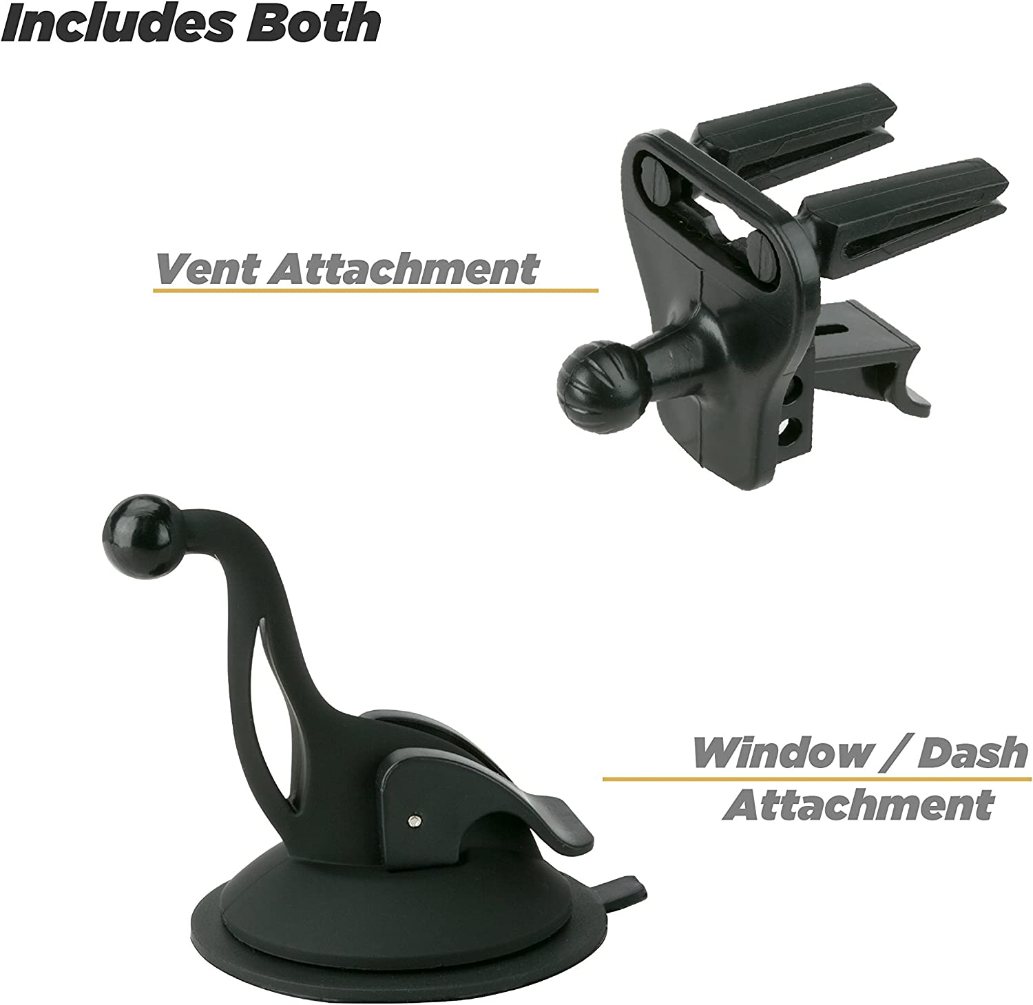 SCOSCHE IUHDR DashDock Universal Smartphone//GPS Suction Cup Mount for the Car Home or Office,Black