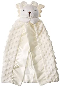 Elegant Baby Prayer Bear Security blanket, White