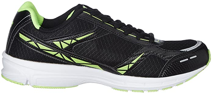 a58ef9c4cd7 Fila Men s Lite Runner Plus 4 Black and Lime Running Shoes - 10 UK India  (44 EU)  Buy Online at Low Prices in India - Amazon.in