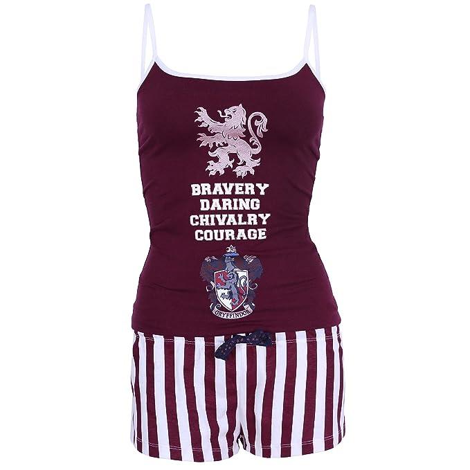 Harry Potter Griffindor - Pijama - para Mujer Rojo Rojo
