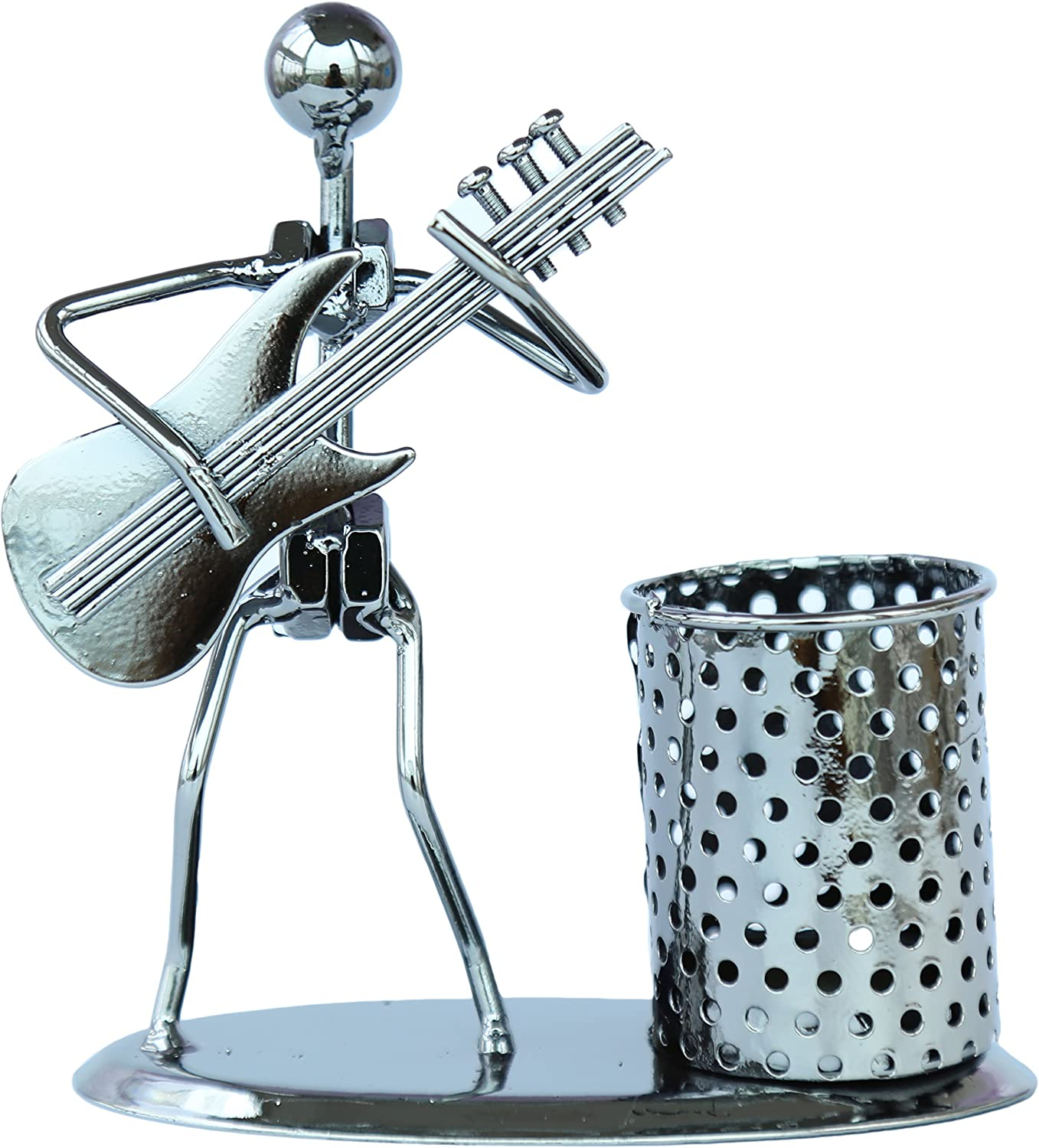 Berry President Decorative Pen Organizer/Pencil Holder Cup Office Supply Desktop Stand (Playing Guitar)