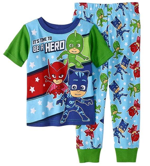 a9478b23 Amazon.com: PJ Masks Pajama Sleep Wear Set for Toddler Boys: Clothing