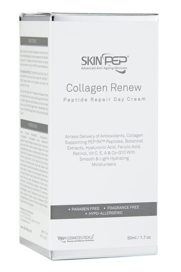 SkinPep ® Collagen Renew - Peptide Repair Day Cream 50ml: Amazon.es: Belleza