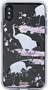 Sonix Crane (Pink, White) Case for iPhone X/XS [Drop Test Certified] Protective Clear Case Series for Apple iPhone X, iPhone Xs