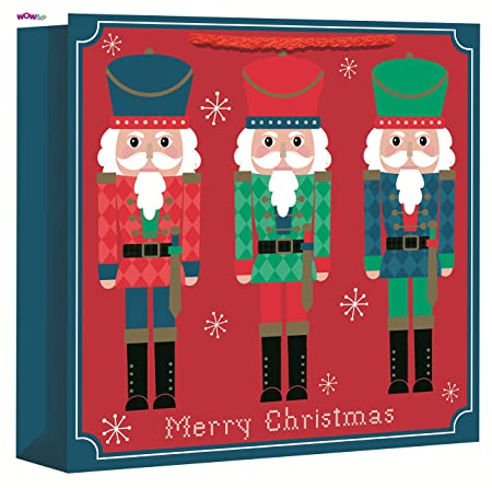 wow cute christmas gift bag nutcracker design jumbo size bag