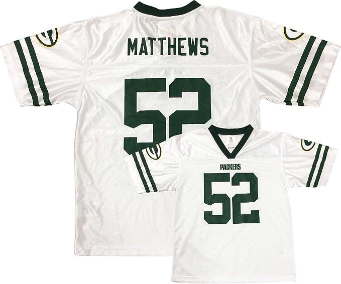Amazon.com  Clay Matthews Green Bay Packers White Away Player Jersey ... e760d5b5ff8c