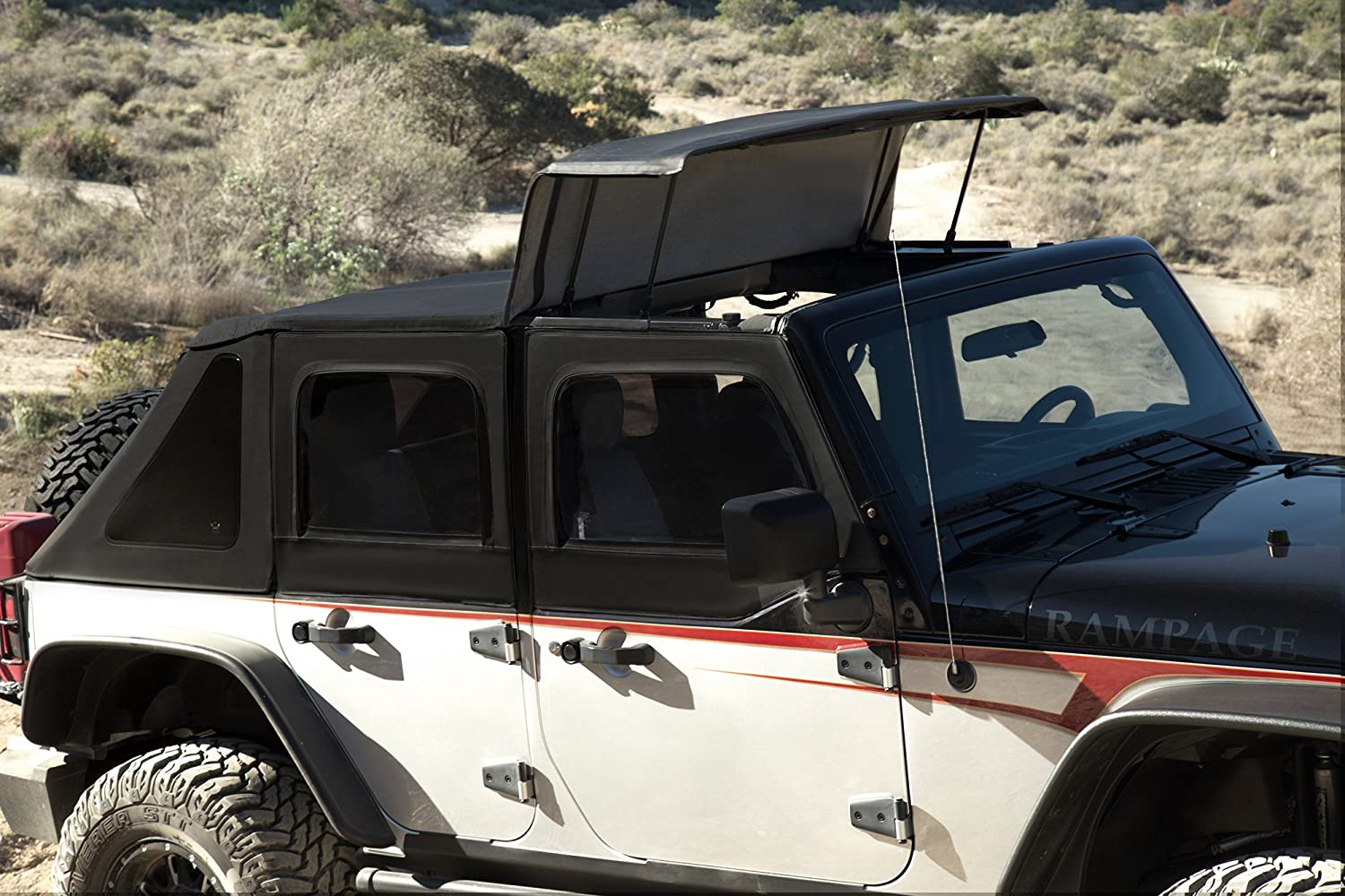 Amazon.com R&age Products 139835 TrailView Jeep Soft Top-4 Door Automotive & Amazon.com: Rampage Products 139835 TrailView Jeep Soft Top-4 Door ...