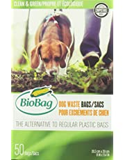 BioBag Compostable and Biodegradable Pet Waste Bags, 50 Bags