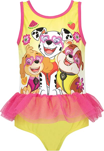 Paw Patrol Swimsuit I Kids Paw Patrol Swimming Costume I Girls Paw Patrol Bather