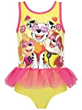 Paw Patrol Girls Skye Marshall and Rubble Swimsuit Size 7 Yellow