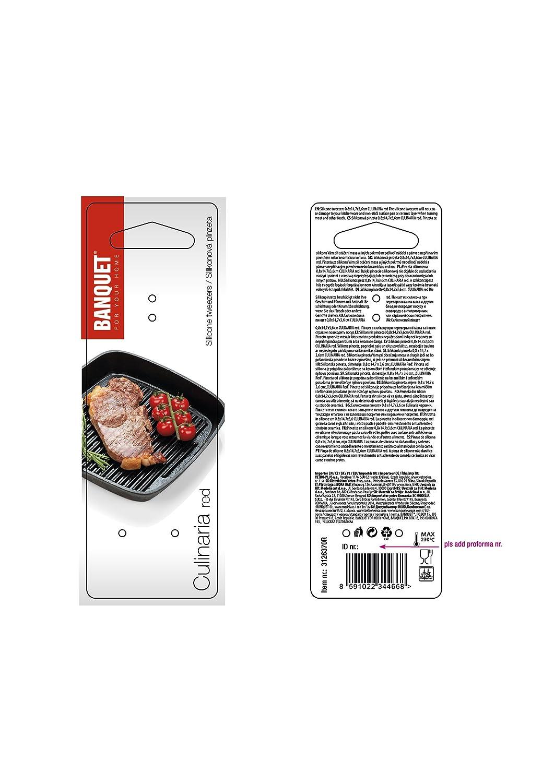 Silicone Banchetto culinaria pinzette Rosso 5/x 18/x 0.6/cm