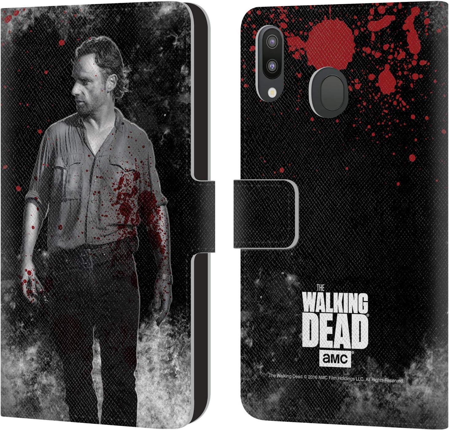 Officiel AMC The Walking Dead Morgan Sang Coque De Livre En Cuir Pour Samsung Galaxy A50