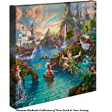Thomas Kinkade Disney Peter Pan's Never Land 14 x 14 Gallery Wrapped Canvas