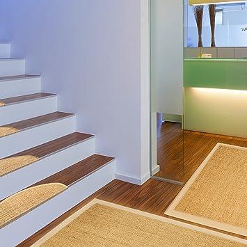 Floori - Alfombra de sisal, varios tamaños, también disponible como conjunto con moqueta para escaleras, color natural: Amazon.es: Hogar