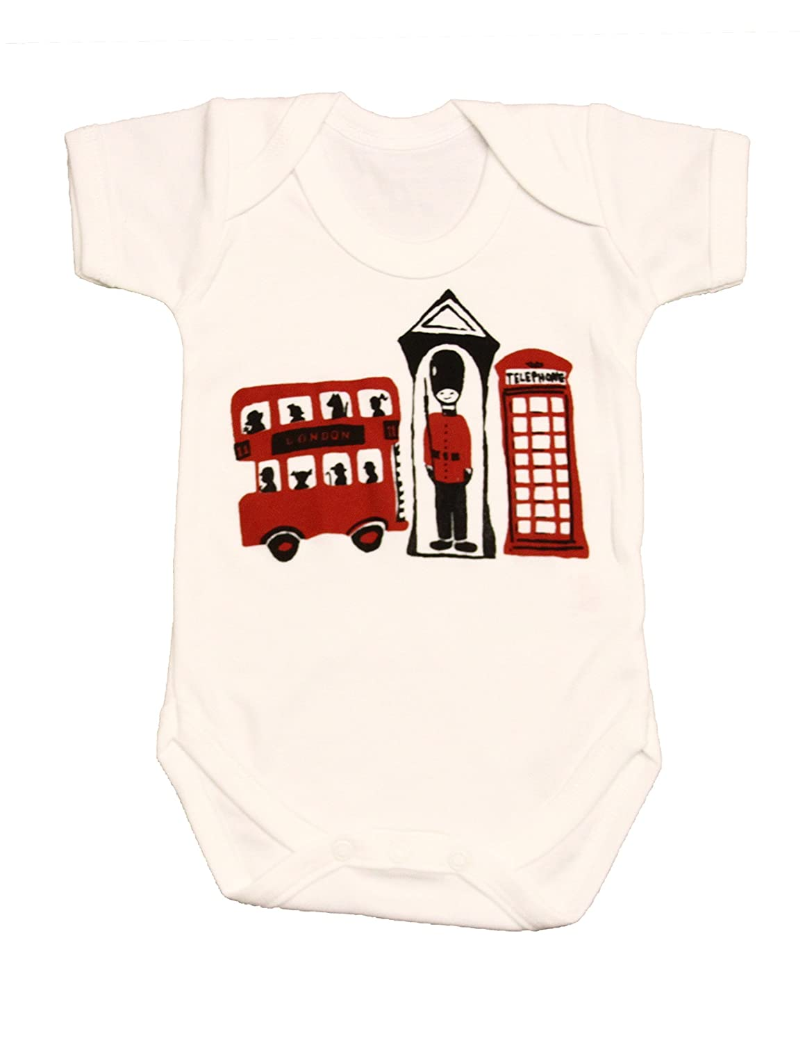 Zaza London Baby-Boys' London 3 Souvenir Suit Vest Newborn Gift