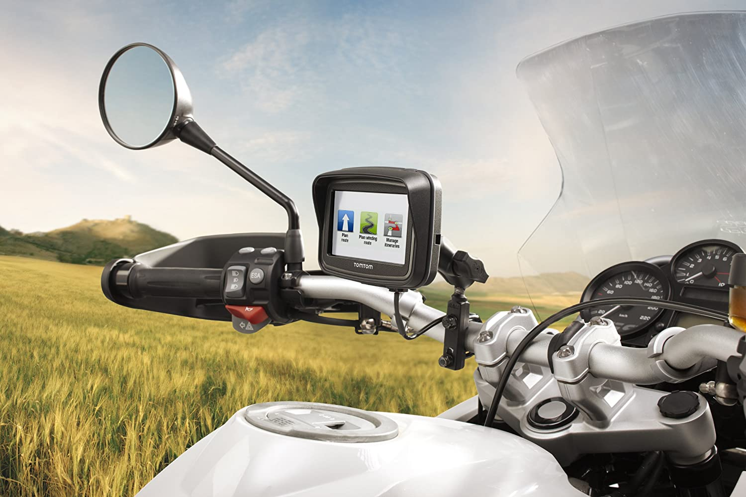 Tomtom Rider Motorcycle Gps Navigator With Lifetime Amazonin