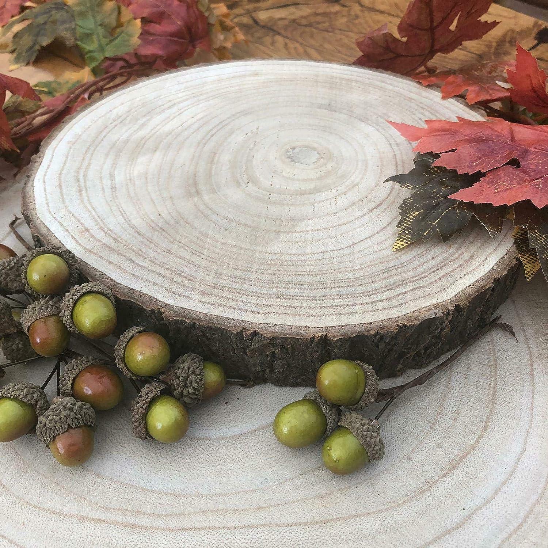 Grande legno naturale Log Fetta della corteccia di albero di nozze centrotavola basamento della torta 24-29cms Medie