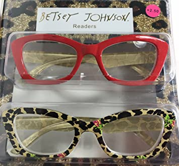 12ca97ea6d Image Unavailable. Image not available for. Color  Betsey Johnson 2 Pairs  Reading Glasses ...