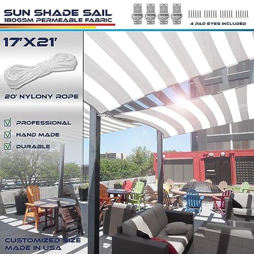 Windscreen4less 17 x 21 Sun Shade Sail UV Block Fabric Canopy
