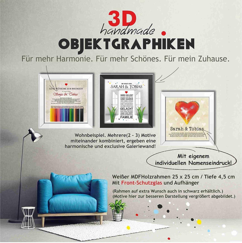Bilderrahmen 3D Liebe Herz Geschenk Brause Brausepulver: Amazon.de ...