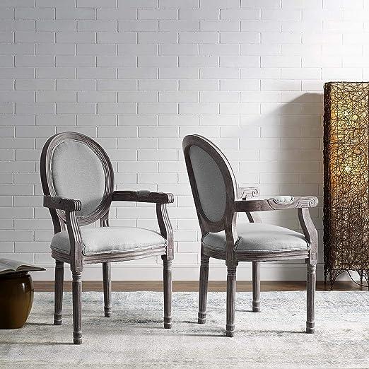 Modway Emanate - Juego de 2 sillones tapizados para Comedor ...