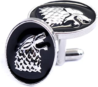 Stark Wolf Kopf Manschettenknöpfe Game Of Thrones - Shirt Accessoires für Männer - Wolf Manschettenknöpfe - Mode für Männer