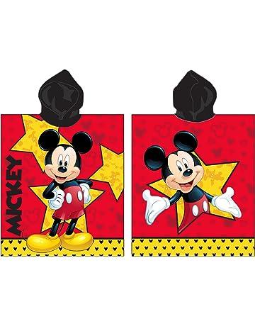 Jerry Fabrics Toalla de Poncho con Capucha para Niños, Diseño Mickey And Friends, Algodón